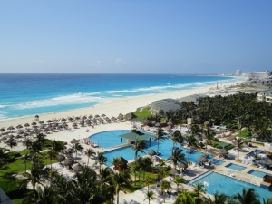 The world famous Iberostar Cancun, just emerging from its multi-million dollar renovation.  Awesome.